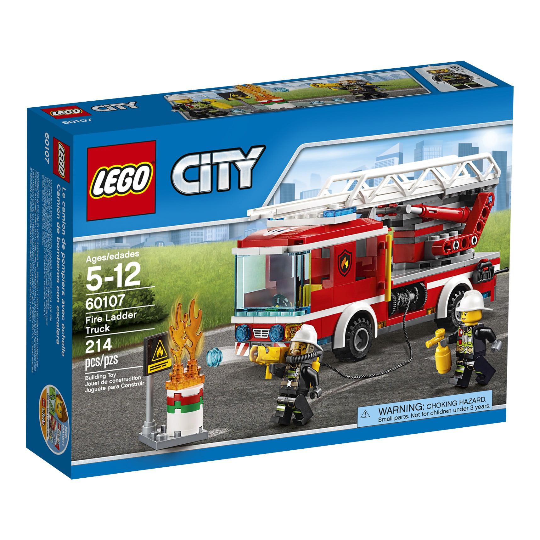 LEGO City Fire Ladder Truck 60107 - Walmart.com