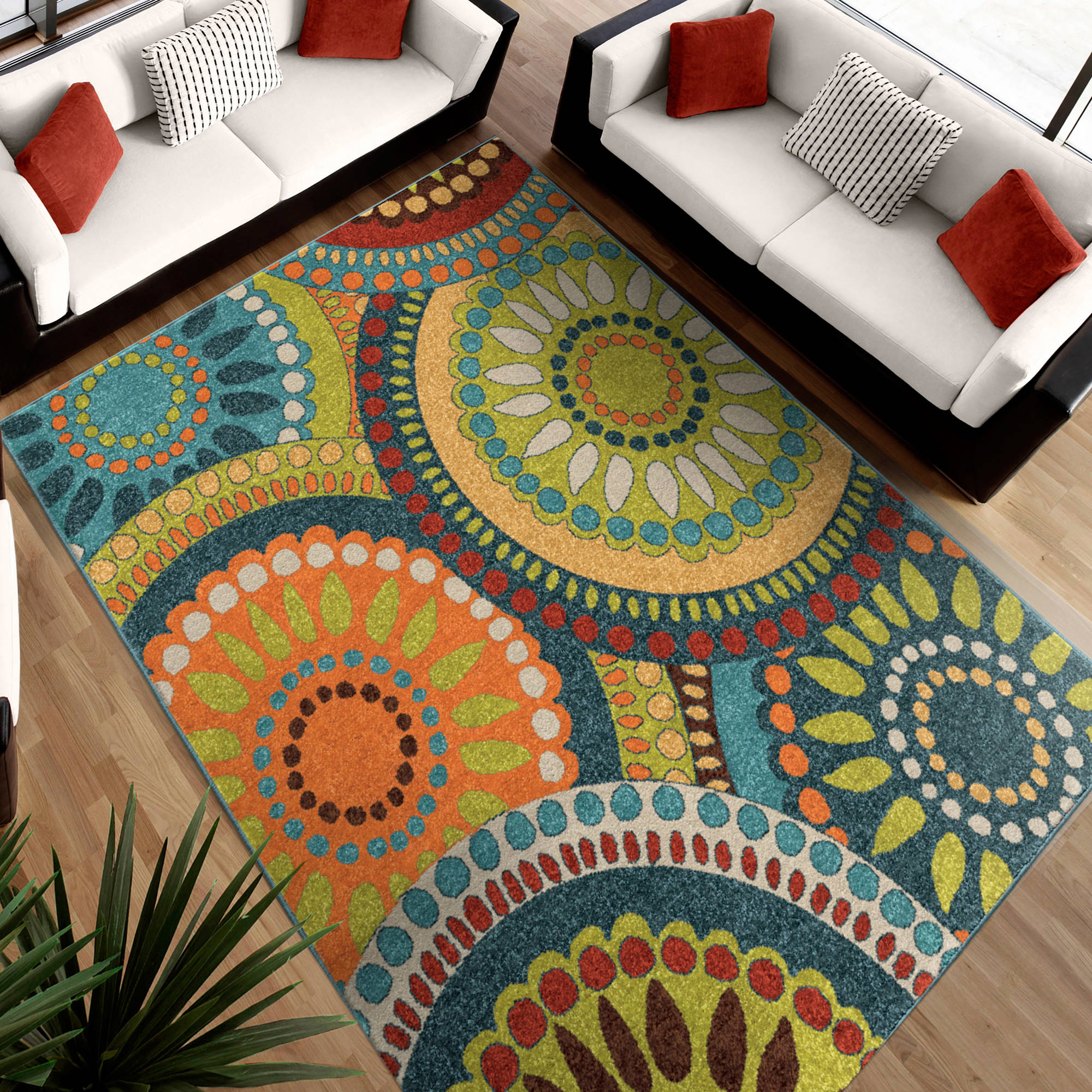 Orian Rugs Pinwheel Area Rug  Available In Multiple Colors And Sizes