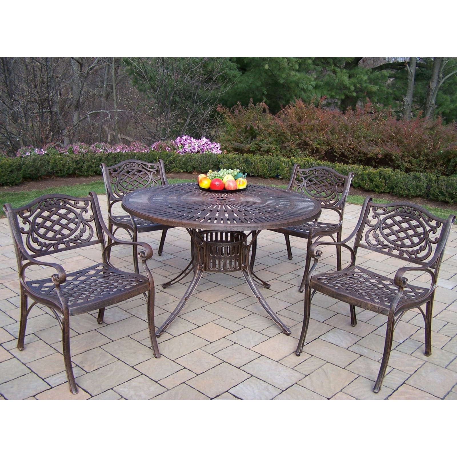 Oakland Living Sunray 48 in. Mississippi Patio Dining Set - Seats 4