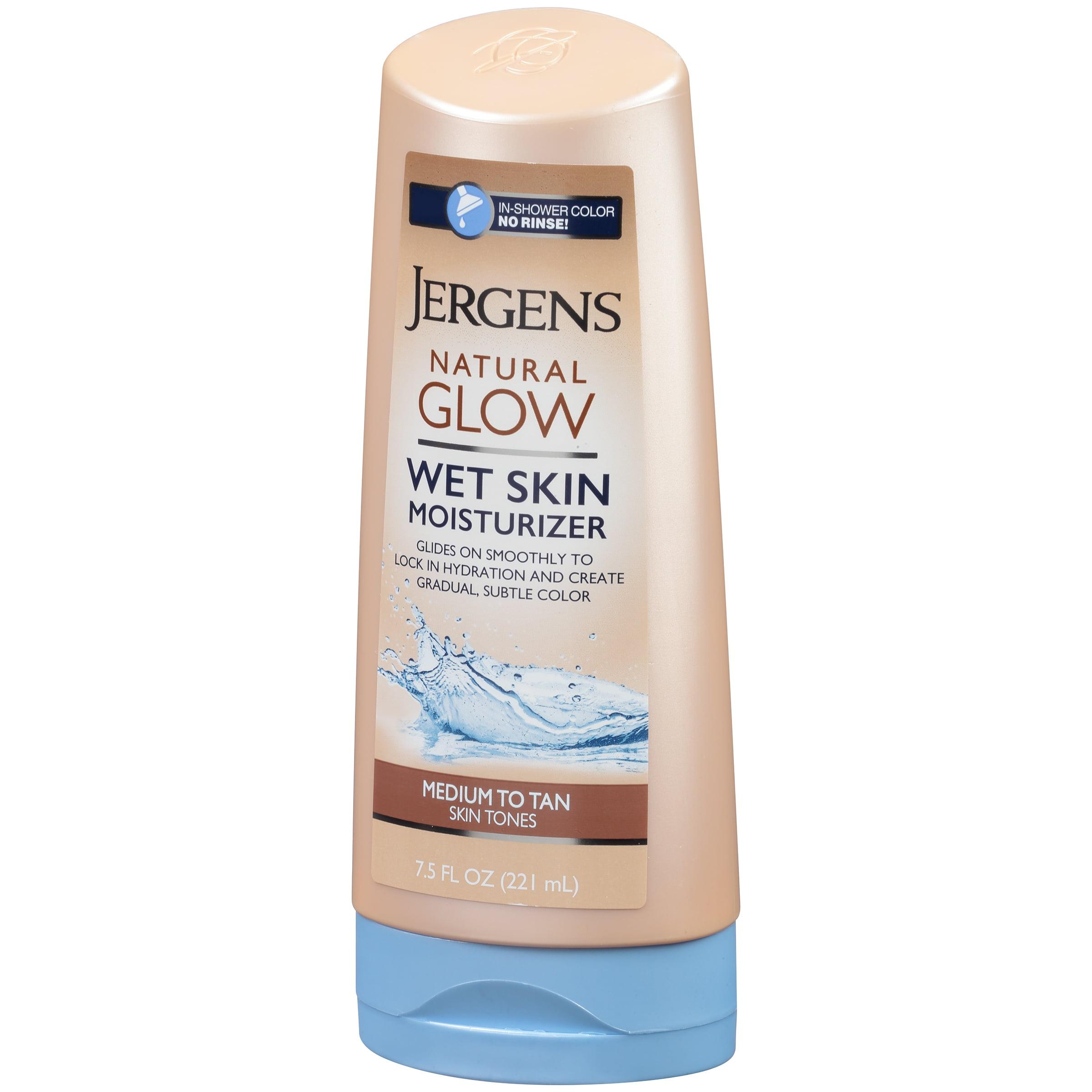 jergens natural glow wet skin moisturizer fair to medium skin tones 75 fl oz walmartcom
