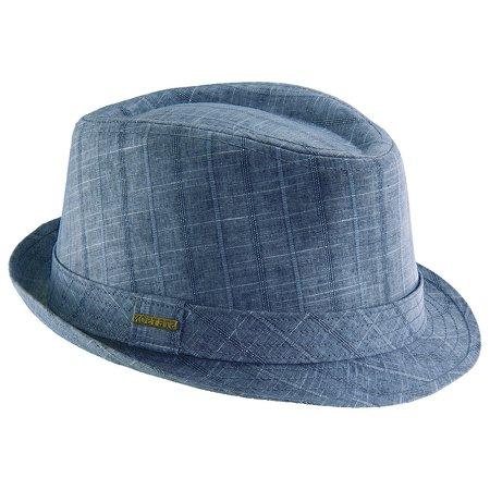 Stetson - Stetson Classic Men s Pane Linen Fedora Hat BLUE L - Walmart.com c4f20e55ae3