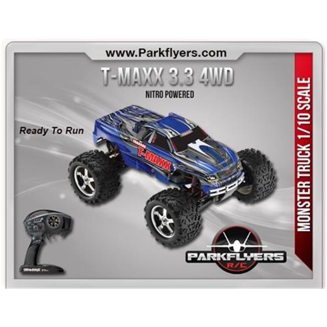 ParkFlyers 49077-1 Traxxas 1-10 T-Maxx 3.3 RTR with 2.4GH...