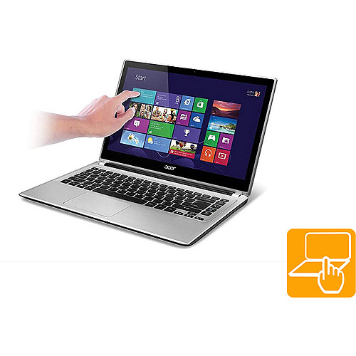 "Acer Silky Silver 14"" Touchscreen V5 Series V5-471P-6605 Laptop PC with Intel Core i3-3227U Processor and Windows 8 Operating System"
