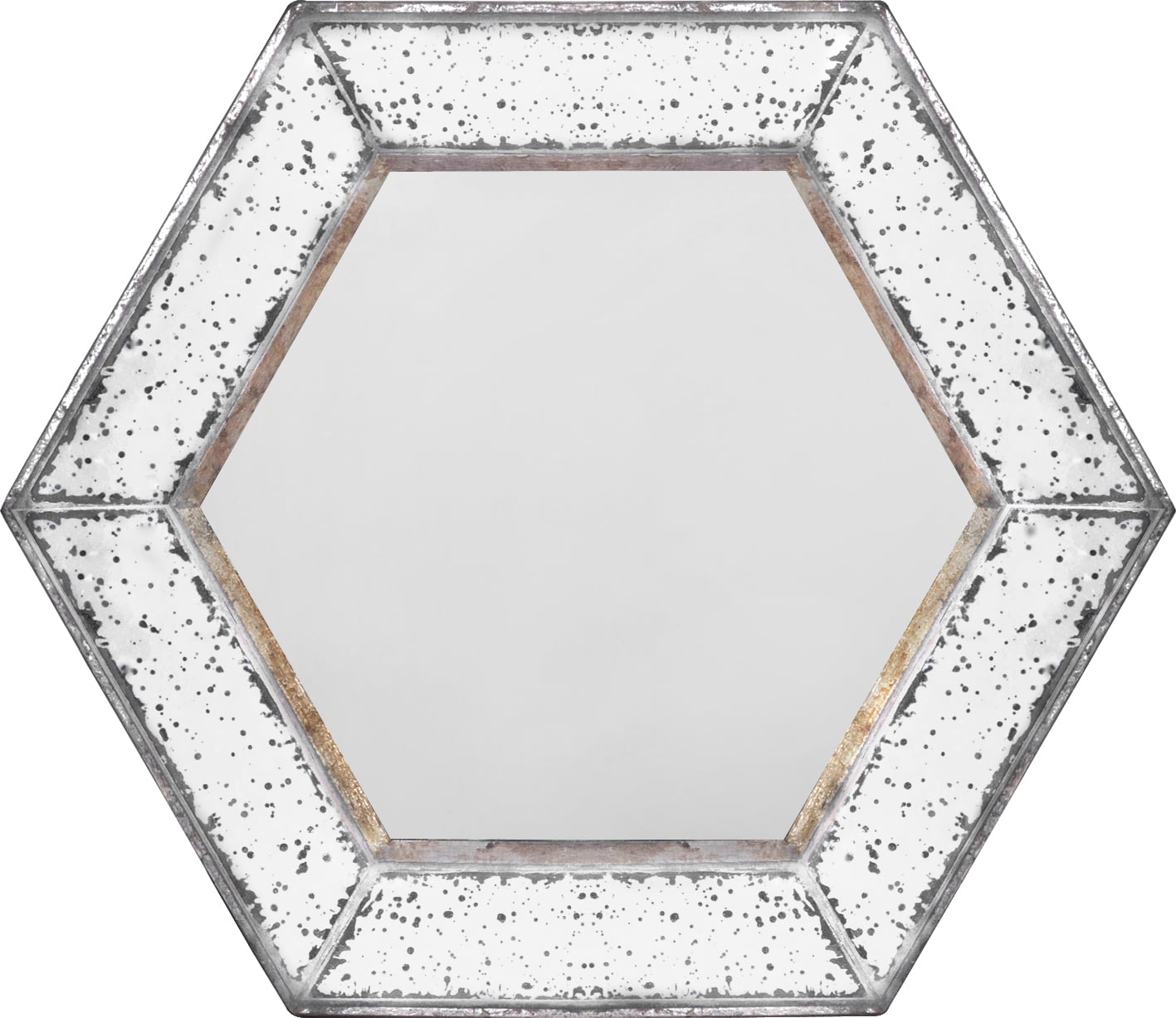 A&B Home Hexagon Antique-Style Wall Mirror by A&B Home