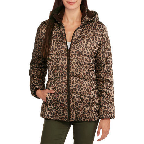 Faded Glory Women's Hooded Puffer Jacket Coat
