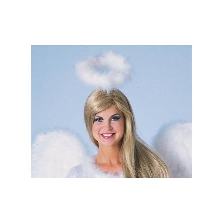 Marabou Feather Halo White Adult Halloween Accessory (Hall Halloween)