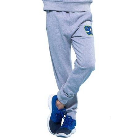 Boys Navy Linen Trousers (Leo&Lily Boys' Sports Fleece Elastic Waist Husky Joggers Pants)