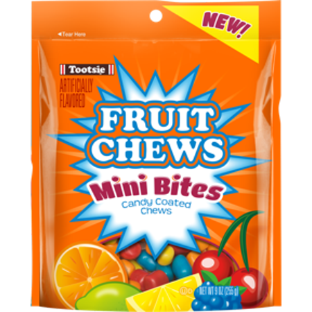 (3 Pack) Tootsie Roll, Fruit Chew Mini Bites Candy, 9 - Fruit Tootsie Rolls