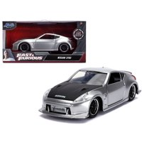 """Nissan 370Z Silver with Black Hood """"Fast & Furious"""" Series 1/32 Diecast Model Car by Jada"""