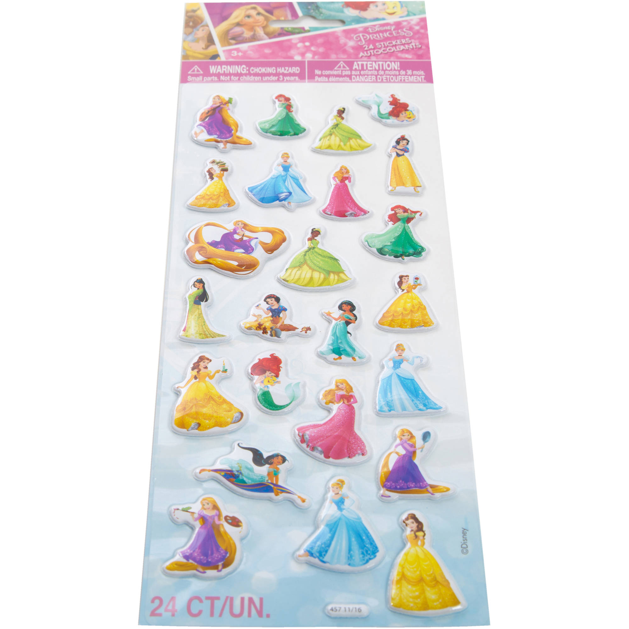 Disney Princess Puffy Sticker Sheet, 1ct
