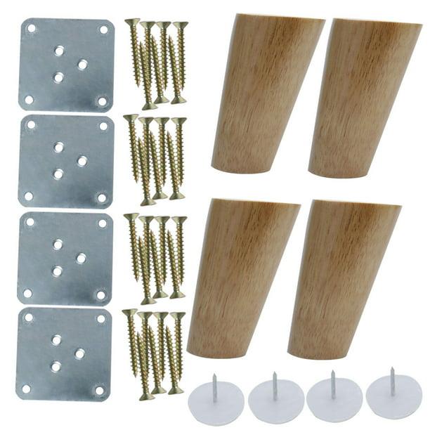 4 Inch Round Wood Furniture Legs Sofa