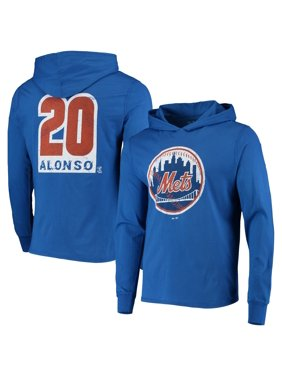 Pete Alonso New York Mets Majestic Threads Softhand Player Long Sleeve Hoodie T-Shirt - Royal