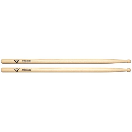 VH3AW 3A Wood Tip Hickory Drum Sticks, Pair, Wood Tip By Vater ()