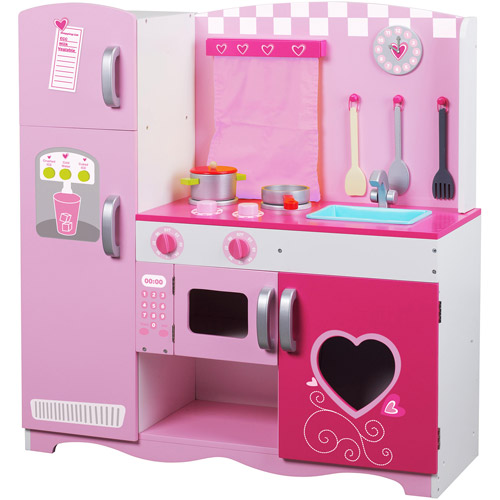 Classic Toy Wood Pink Kitchen