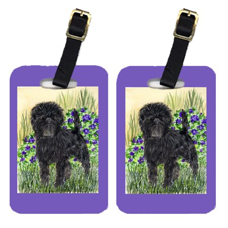 Pair of 2 Affenpinscher Luggage Tags