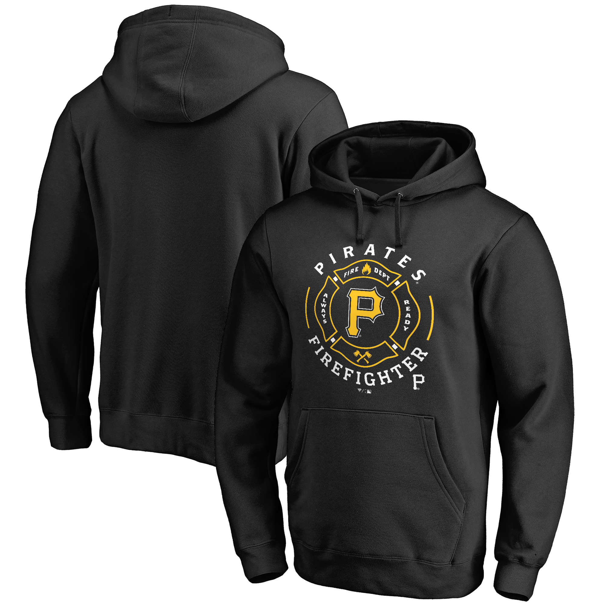 Pittsburgh Pirates Firefighter Pullover Hoodie - Black