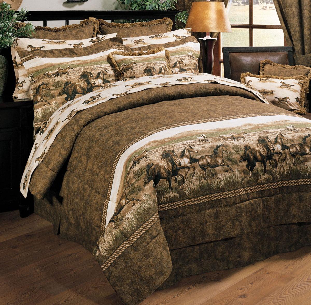 Wild Horses Comforter Set - Full