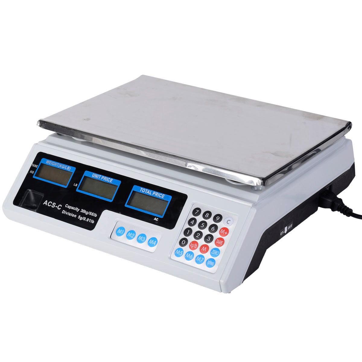 66 LB Digital Scale Price Computing Deli Food Produce Electronic ...