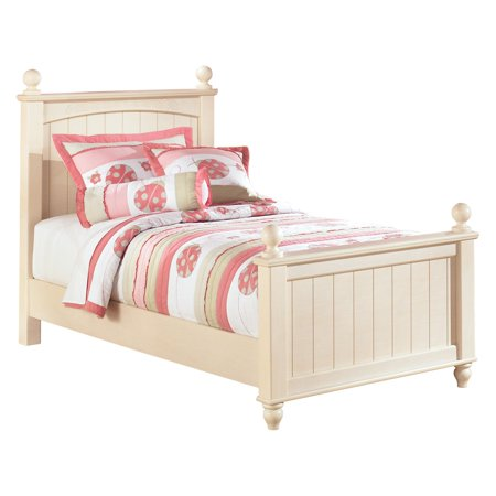 (Signature Design by Ashley Cottage Retreat Youth Twin Poster Bed - Cream Cottage)