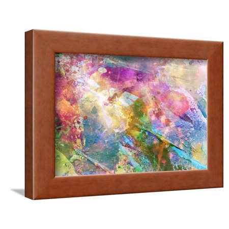 Abstract Grunge Texture With Watercolor Paint Splatter Framed Print Wall Art By run4it (Paint Splatter Clip Art)