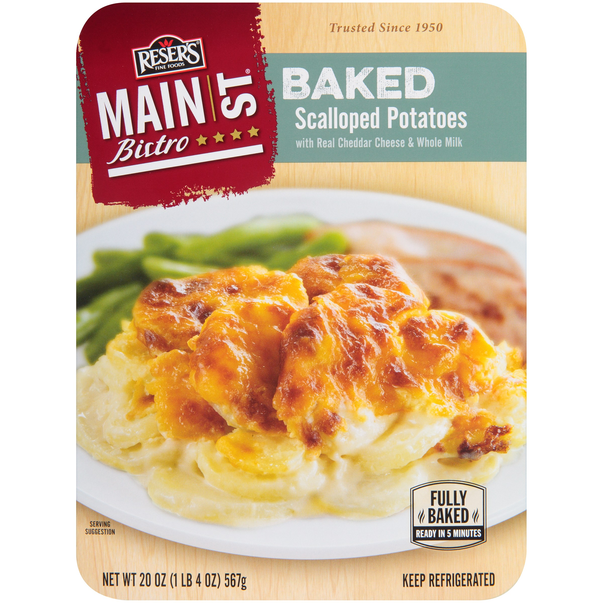 Reser's Main St Bistro Baked Scalloped Potatoes 20 oz. Box by Reser's Fine Foods