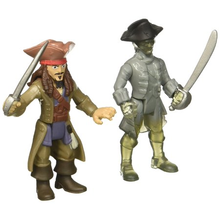 : Dead Men Tell No Tales - Jack Sparrow vs. Ghost Crewman - Action Figure 2-Pack, Set includes two sculpted 3-inch articulated figures from Pirates.., By Pirates of the - Ghost Ship Pirate
