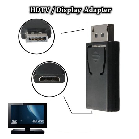 Us Stock Display Port Dp Male To Hdmi Female Adapter Converter Adaptor For Hdtv Pc 1080P