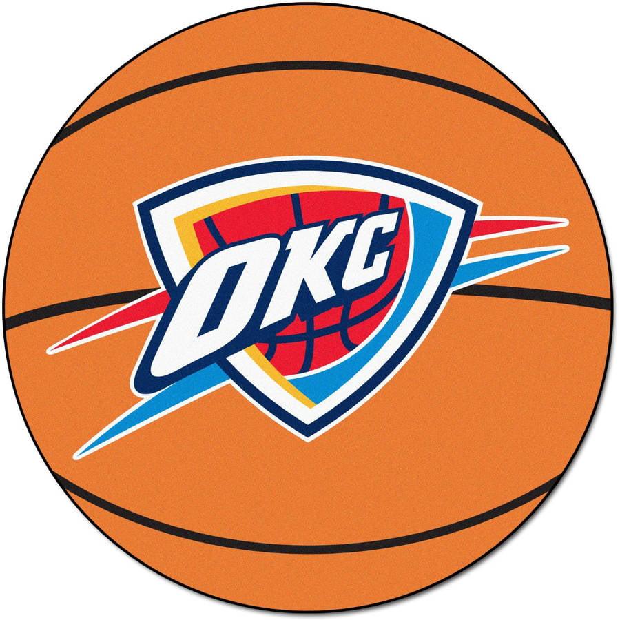 Okc Thunder Bedroom Decor Nba Oklahoma City Thunder Nylon Face Basketball Rug Walmartcom