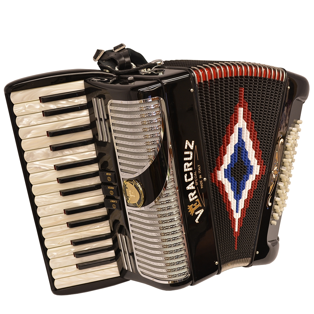 Excalibur Veracruz MII 60 Bass Piano Accordion Black & Chrome by