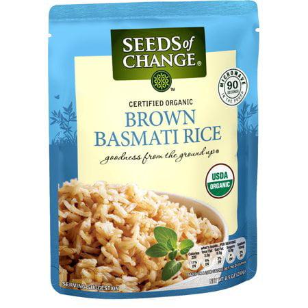 (5 Pack) SEEDS OF CHANGE Organic Brown Basmati Rice, 8.5oz