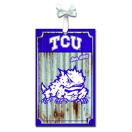 TCU Horned Frogs Corrugated Metal Ornament, Adorn your Christmas tree with team pride this holiday season By Team Sports America from - Tcu Parties