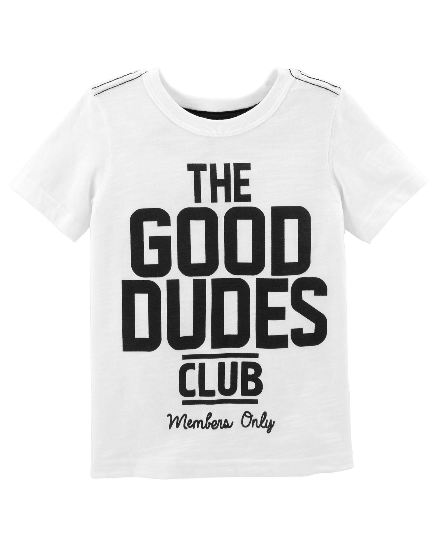 Carter's Little Boys' Good Dudes Club Slub Jersey Tee, 3-Toddler