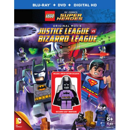 LEGO: DC Comics Super Heroes - Justice League Vs. Bizarro League (Blu-ray + DVD + Digital HD With Ultraviolet + Batzarro LEGO Minifigure) (All The Superheroes)