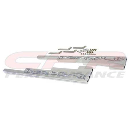CFR HZ-6061-2-POL 9.5 mm Flamed Polished Billet Aluminum Wire Loom Set - Chevy, Ford & Mopar