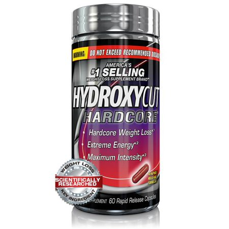 Hydroxycut Hardcore Fast Acting Energy & Weight Loss Pills, 60