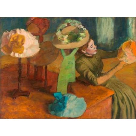 Millinery Shop Edgar Degas - The Millinery Shop Stretched Canvas - Edgar Degas (11 x 14)
