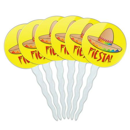 Mexican Cinco De Mayo (Fiesta Sombrero Mexican Cinco de Mayo Cupcake Picks Toppers - Set of)