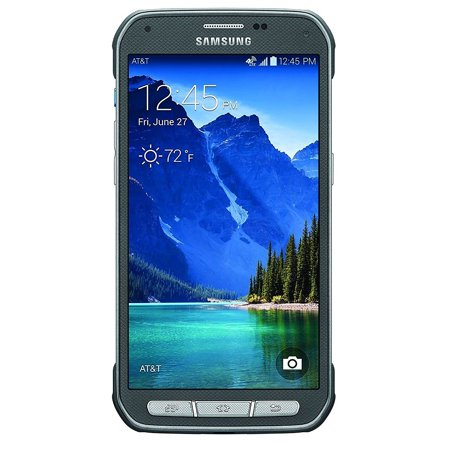 Samsung Galaxy S5 Active G870a 16GB Unlocked GSM Extremely Durable Smartphone w/ 16MP Camera - Titanium (Samsung Galaxy Note 8-0 16gb Android 4-1 Tablet)