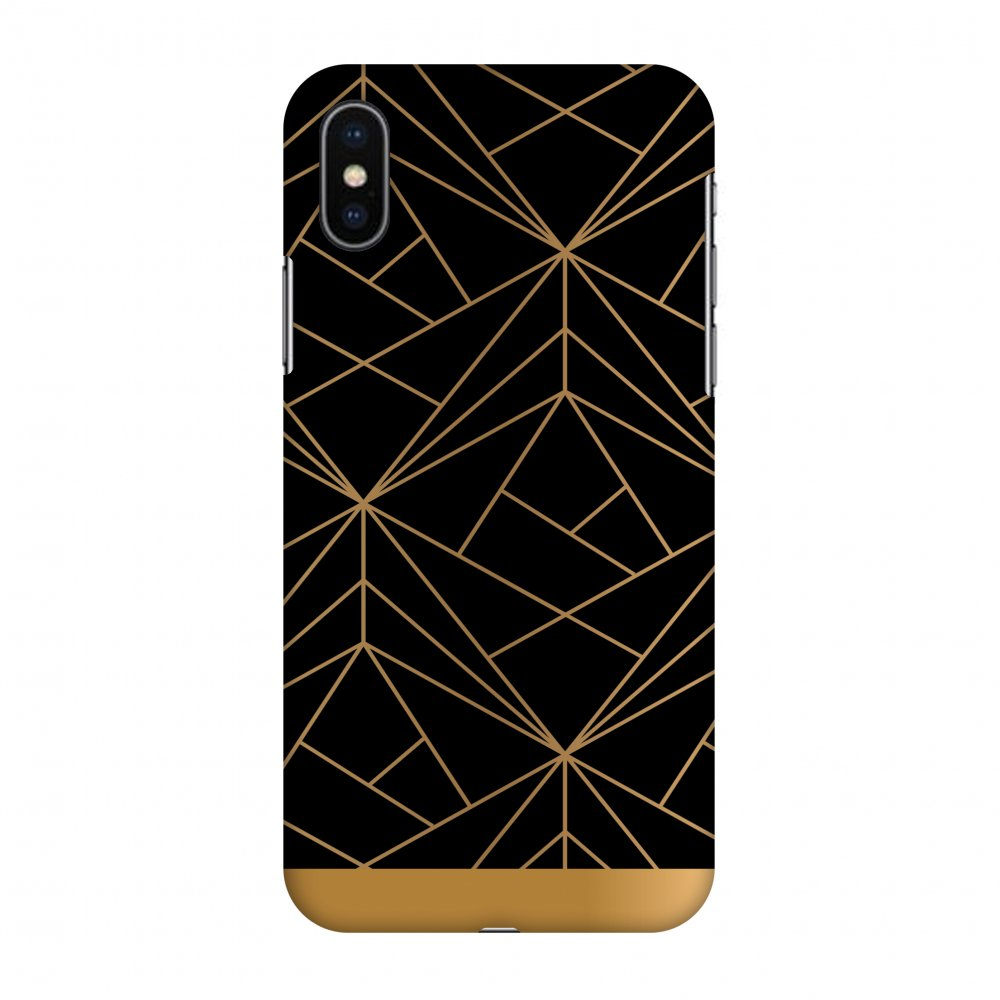iPhone X Case, Premium Handcrafted Designer Hard Snap on Shell Case ShockProof Back Cover with Screen Cleaning Kit for iPhone X - Golden Elegance 2