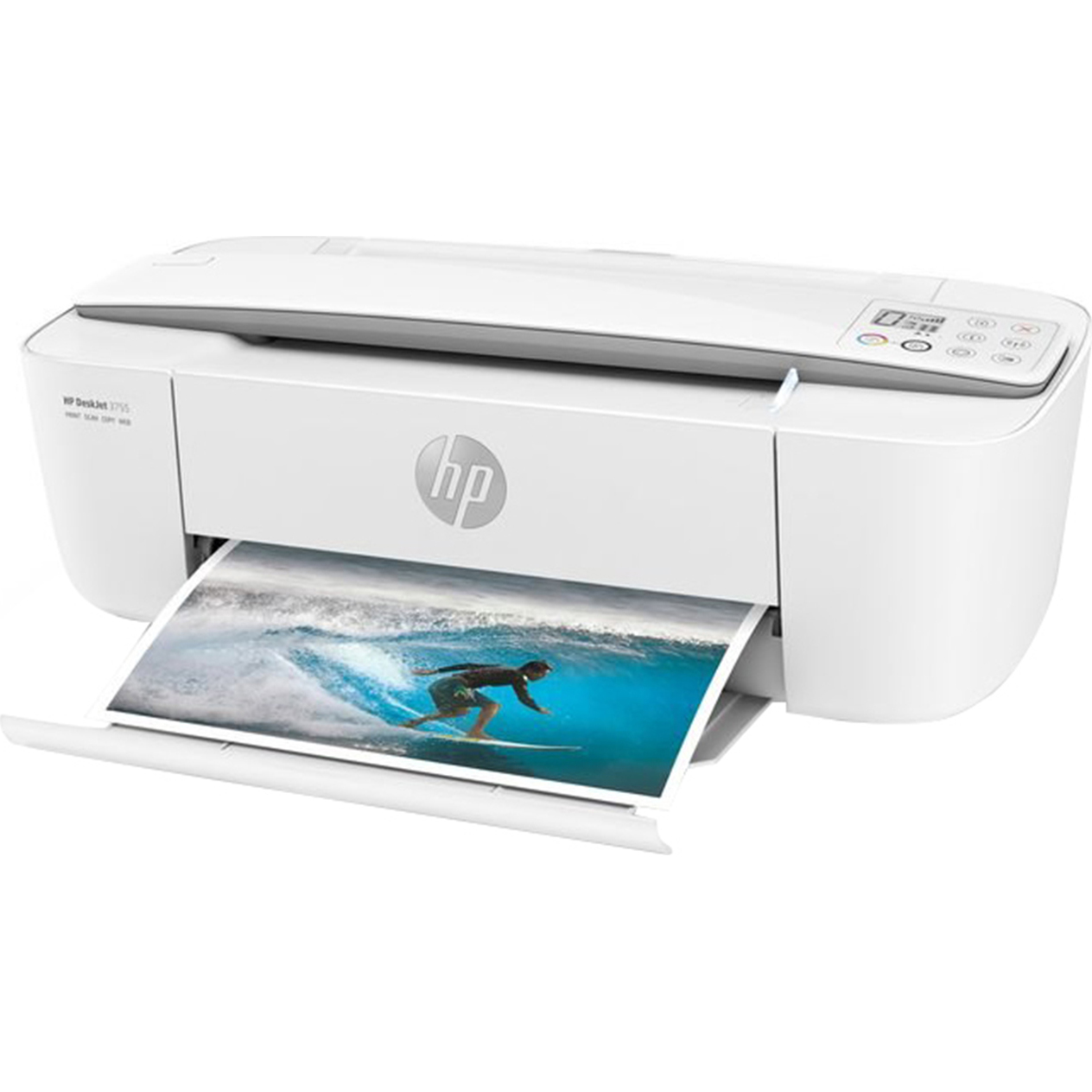 Refurbished HP 3755 All-in-One Color Ink Jet Printer, White
