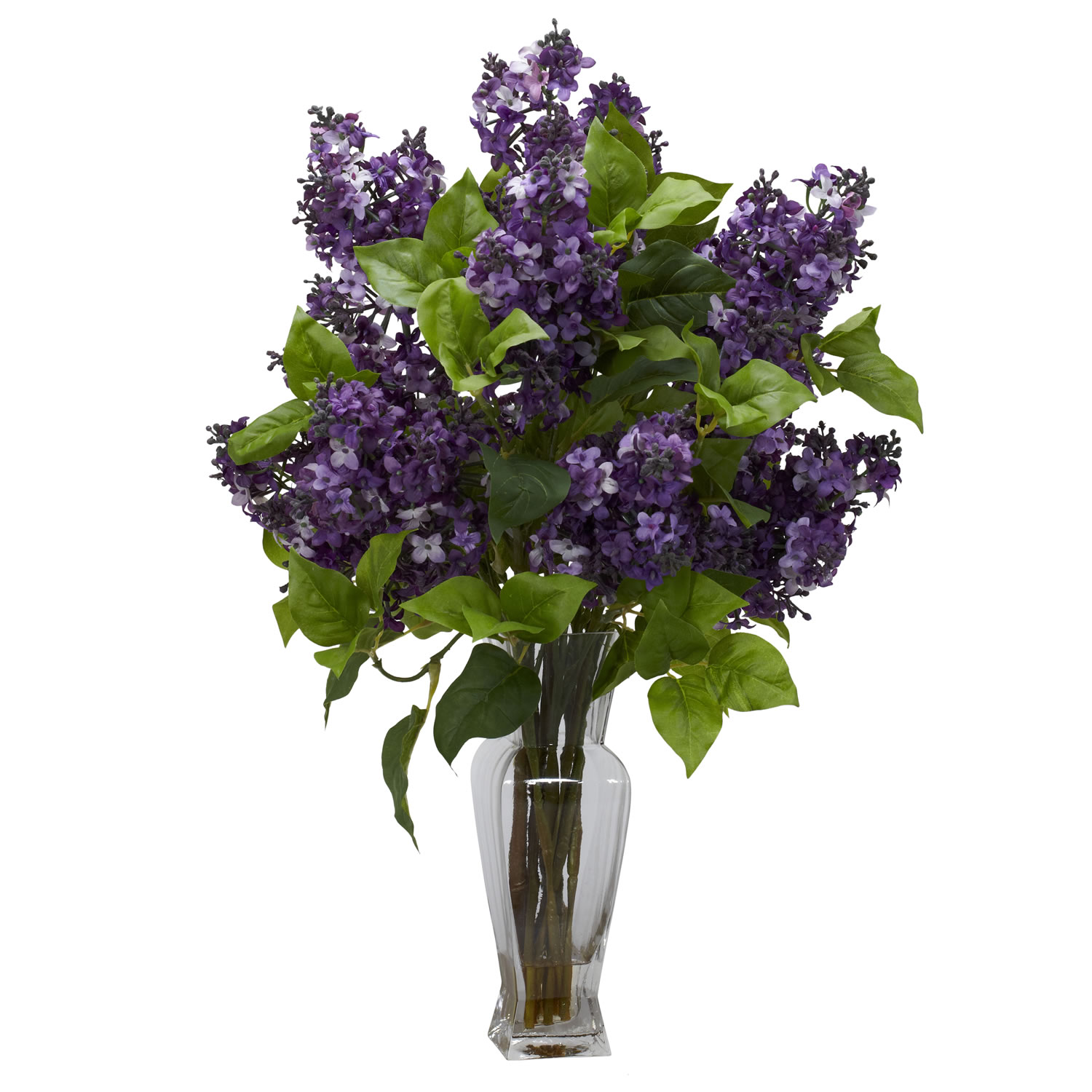 Home Decorative Lilac Silk Flower Arrangement