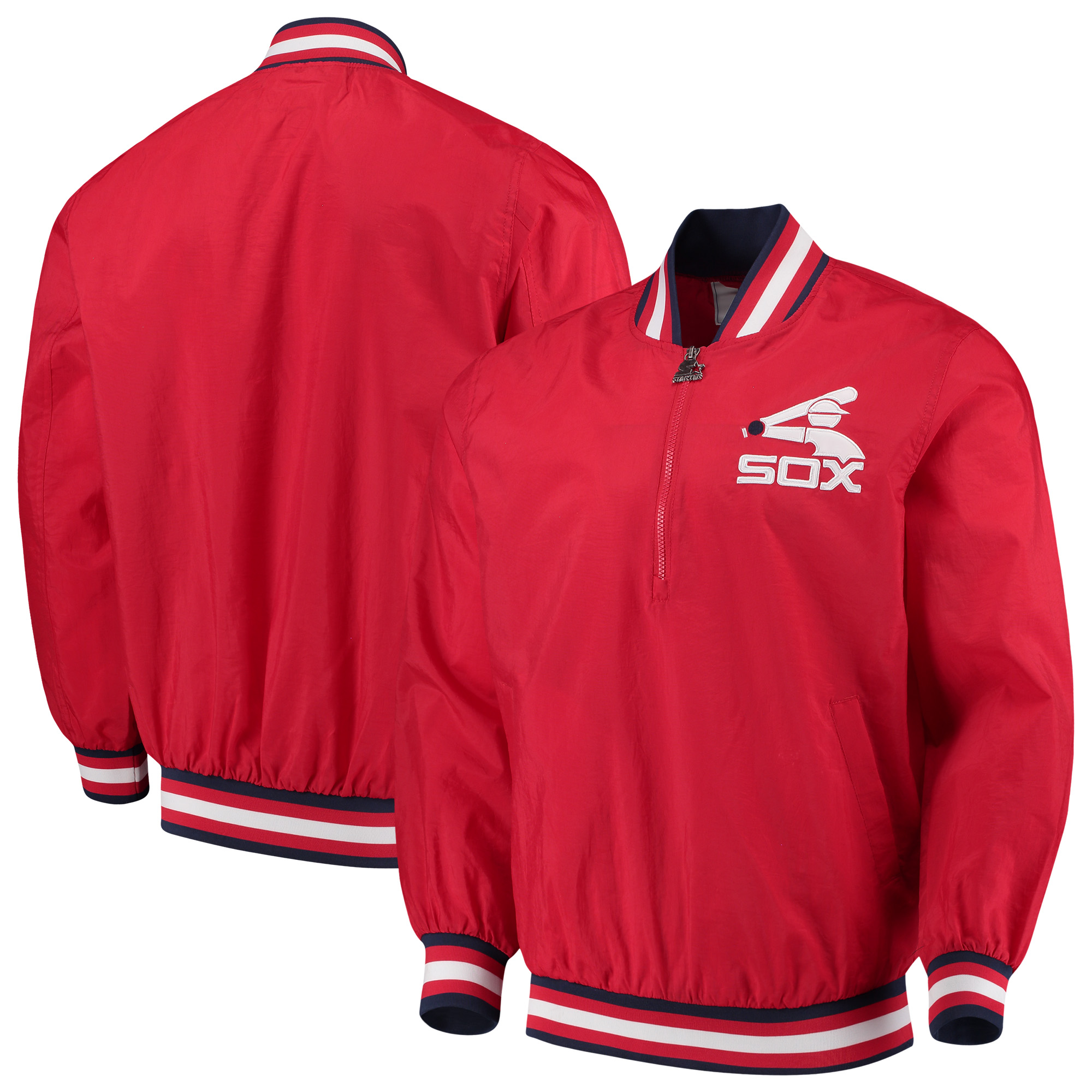 Chicago White Sox G-III Sports by Carl Banks Starter Jet Game Half-Zip Pullover Jacket - Red
