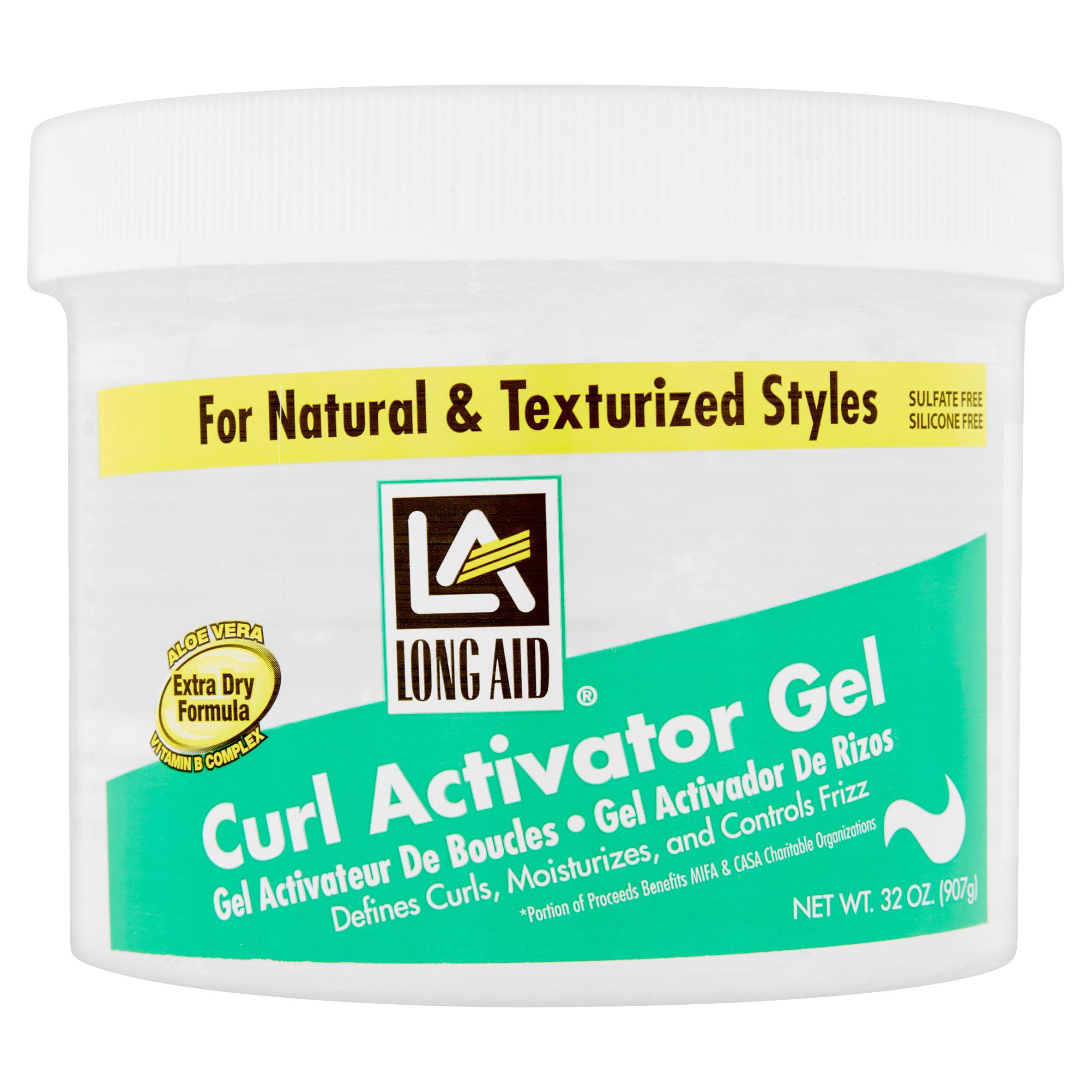 Long Aid® Extra Dry Formula Curl Activator Gel 11 oz. Jar ...