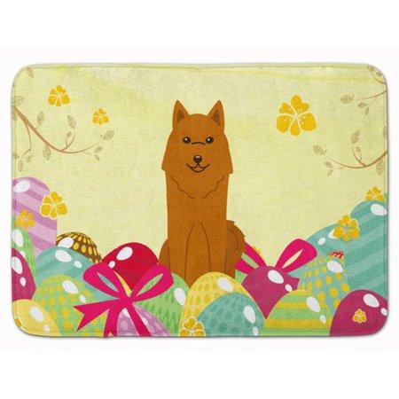 The Holiday Aisle Easter Eggs Karelian Bear Dog Memory Foam Bath Rug