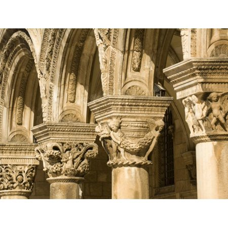 Stone arches and columns at entrance to Rector's Palace, Dubrovnik, Dalmatia, Croatia Print Wall Art By John & Lisa Merrill](Halloween Entrance Columns)