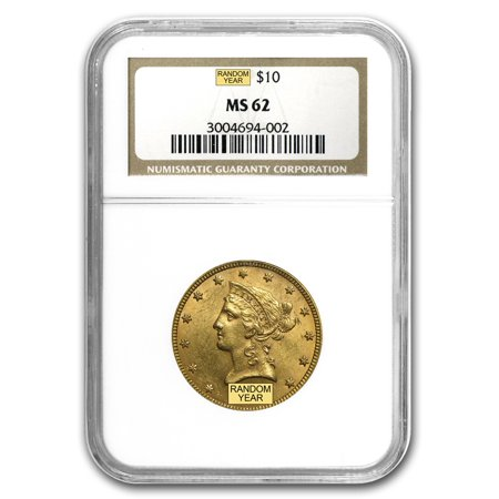 $10 Liberty Gold Eagle MS-62 NGC - Ngc Ms62 Gold Coin