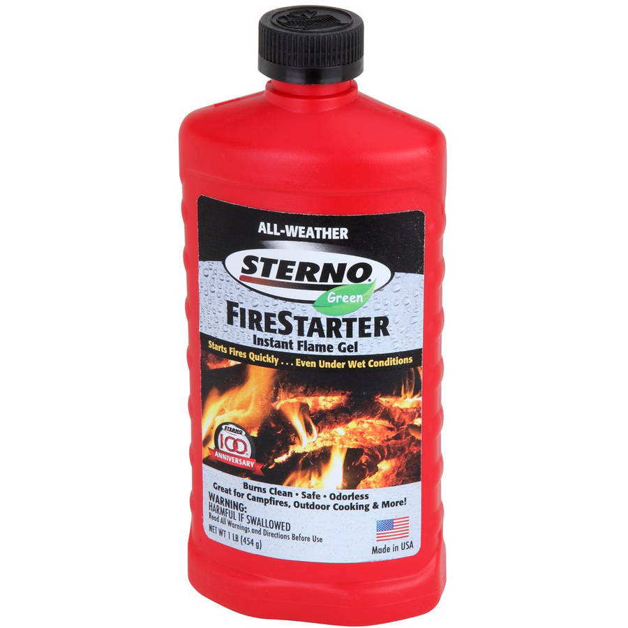 Sterno 20216 All-Weather Instant Flame Gel Fire Starter