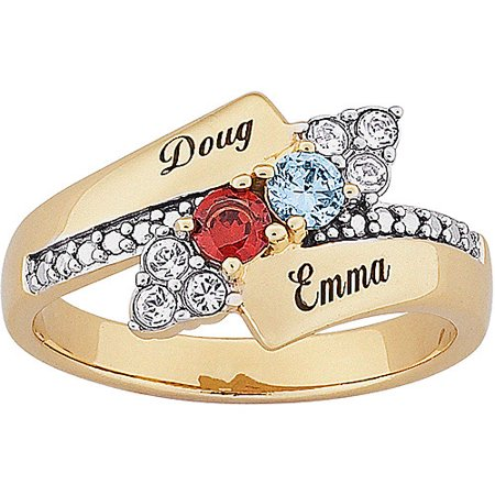 with ring s name rings mother mothers jewelry birthstone engraved gift birthstones silver triple wholesale gold stackable products sterling