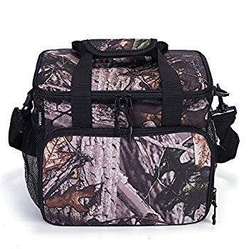 14L Waterproof Large Insulated Lunch Bag Soft Leakproof Liner Lunch Box for Men Women Adult Picnic Cooler Bag Food Storage Box for Work Office Beach (Leaf Camouflage) thumbnail