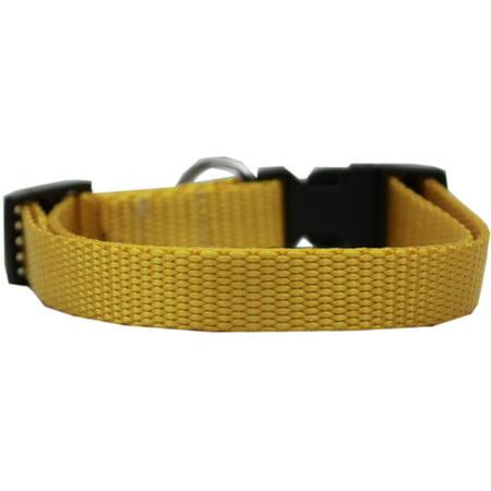 Plain Nylon Cat Safety Collar Golden Yellow